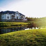Un hôtel construit autour d'un club de golf en Écosse.