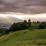Sur la colline du Murier, en haut de Grenoble. Rayons de soleil sur nos louveteaux.