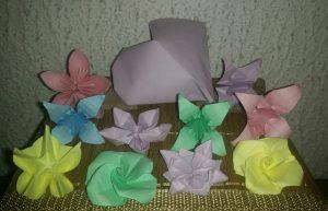 Les origamis en question.