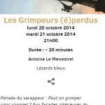 Les Grimpeurs (é)perdus, Octobre 2014, Klap Maison pour la danse, Marseille