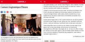 No Fears (Compagnie OnCore), Juin 2016, La Dépêche, Alzonne