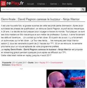 Ninja Warrior, Juillet 2017, Replay TF1, Cannes