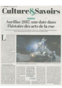 Wild Side Story, Août 2017, L'humanité, Aurillac