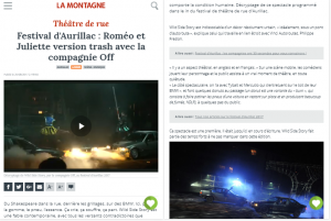Wild Side Story, Août 2017, La Montagne, Aurillac