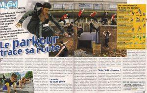 Le parkour trace sa route Mars 2012, Science et Vie Junior, Grenoble