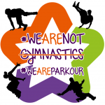 #wearenotegymnastisc with the logo of the city of Montpellier