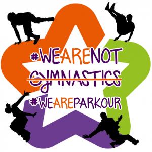 #wearenotgymnastique avec logo de la ville de Montpellier