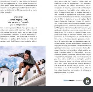"""Outdoors Experts : Activités montantes de l'outdoor : Parkour David Pagnon, FPK """"Le partage et l'entraide, pas la compétition"""""""